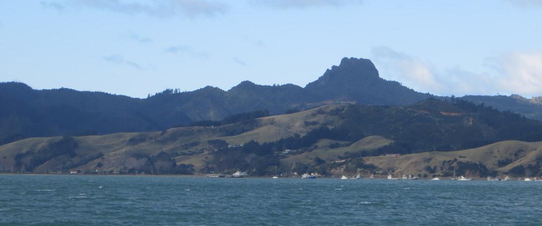 Coromandel Harbour view to the penisualar rangess