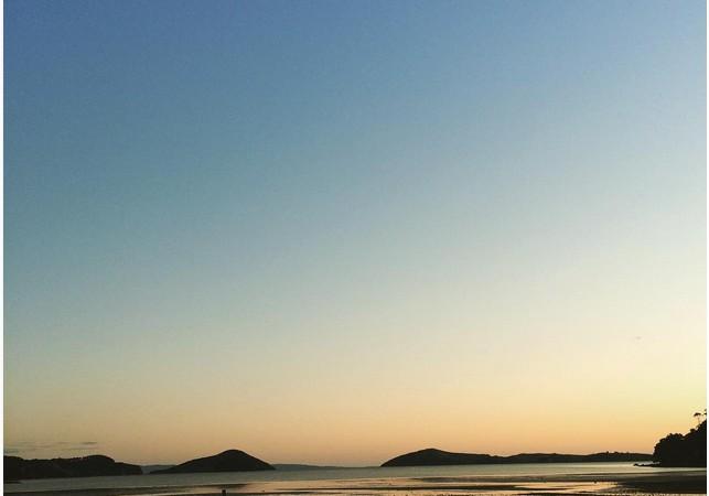 Coromandel Kikowhakaware Beach Sunset